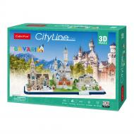 3D-пазл CubicFun City line Бавария MC267h