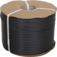 Стрічка поліпропіленова пакувальна чорна 1000 м 0,55x9 мм