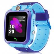 Умные детские часы Smart Watch Kids Q12 с камерой и влагозащитой IP67 Синий (SWQ12B)