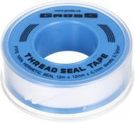 Стрічка-фум 12m x 12mm x 0,1mm x 0.7 g/cm3 (white tape)-PS