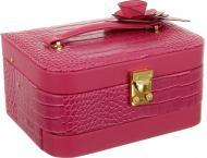 Шкатулка для украшений розовая 23х17х11.5 см Delux