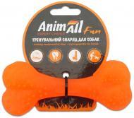 Игрушка для собак AnimAll Кость 12 см оранжевая 88112
