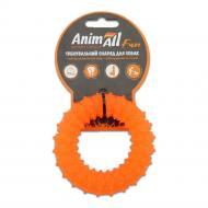 Игрушка для собак AnimAll Кольцо с шипами 9 см оранжевое 88162