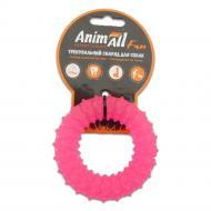 Іграшка для собак AnimAll Кільце з шипами 9 см коралове 88163