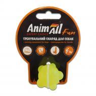 Іграшка для собак AnimAll Куля молекула 3 см жовта 88131