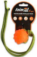 Игрушка для собак AnimAll Шар с канатом 4 см оранжевый 88172