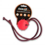 Игрушка для собак AnimAll Шар с канатом 4 см коралловый 88173