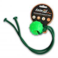 Игрушка для собак AnimAll Шар с канатом 4 см зеленый 88175