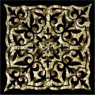 Плитка Grand Kerama Тако Ніч золото рифлена 2051 8x8