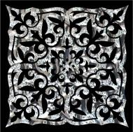 Плитка Grand Kerama Тако Ніч платина рифлене 2052 8x8