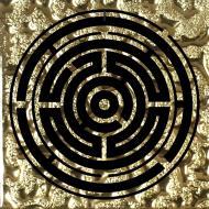 Плитка Grand Kerama Тако Лабіринт золото рифлене 2060 8x8