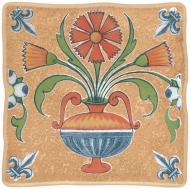 Плитка Opoczno Вікінг оранж котедж 1 декор 10x10