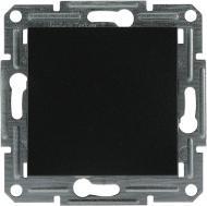 Вимикач одноклавішний Schneider Electric Asfora самозатискні контакти без підсвітки 10 А 220В IP20 антрацит