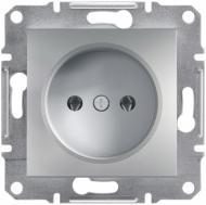 Розетка без заземления Schneider Electric Schneider Electric Asfora 16 А  250 В без шторок алюминий 63fc4c5a13e