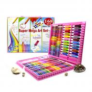 Набор для рисования Super Mega Art Set 168 предметов Розовый (3962-11381)