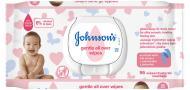 Дитячі вологі серветки Johnson's Baby Лагідна турбота 56 шт.