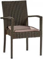 Крісло ротангове Плед 2554 коричнево-бежевий