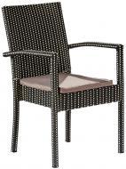 Крісло Rattwood Плед 2561 92x57x43 см чорно-білий