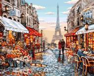 Картина за номерами Danko Toys 40х50 см Париж KpN-01-09U
