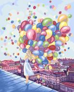 Картина за номерами Danko Toys 40х50 см рос.№ 3 Дівчинка з кульками KpN-01-03