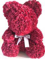 Мишка из роз Trend-mix 25 см Бордовый (tdx0000717)