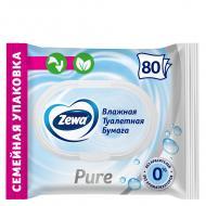 Вологий туалетний папір Zewa Pure moist одношаровий 80 шт.