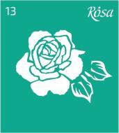 Трафарет багаторазовий самоклейкий №13 90х100 мм Rosa Talent