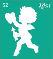 Трафарет багаторазовий самоклейкий №52 90х100 мм Rosa Talent