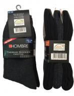 Комплект зимних термоносков Hombre 43-46 Черный/Серый (hom_001)