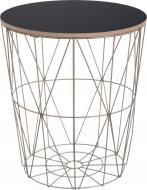 Стол-корзина Сканди 35х35х39 см чорный с золотым