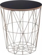 Стол-корзина Сканди 30х30х34 см чорный с золотым