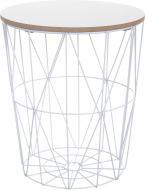 Стол-корзина Сканди 30х30х34 см белый