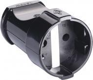 Розетка переносна Makel без заземлення 250В 10А IP20 ABS-пластик чорний