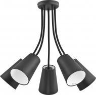 Люстра стельова TK Lighting Wire 5x60 Вт E27 чорний 2104