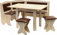 Куточок кухонний Компаніт Імператор зі столом та 2 табуретками дуб сонома коричневий