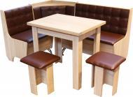 Уголок кухонный Маршал 1205х1605х840 мм дуб сонома коричневый