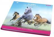 Блокнот 200*200/96 інтег., глянець + фольга сер Horses YES