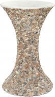 Стійка для чаші декорована галькою 30x49 см