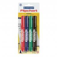 Набор маркеров Centropen Flipchart 8550/04 4 шт. 02004 разноцветный
