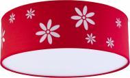 Люстра стельова TK Lighting Flora 4x15 Вт E27 червоний 2417