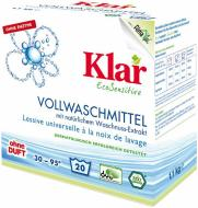 Пральний порошок для машинного та ручного прання Klar EcoSensitive 1,1 кг