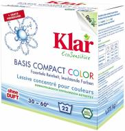 Пральний порошок для машинного та ручного прання Klar Basis Compact Color 1,375 кг