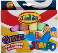 Крейда кольорова Class Jumbo, 6 шт.