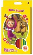 Олівці кольорові Маша і Ведмідь, 12 шт. Росмен