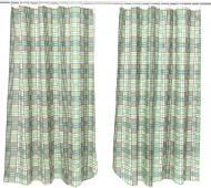 Комплект штор Шато 170x145 см клітинка зелена La Nuit