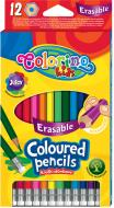 Олівці кольорові з гумкою 92531PTR 12 шт. Colorino
