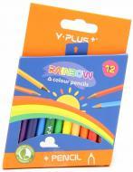 Олівці кольорові Rainbow PC1104DA, 12 шт. Y PLUS