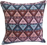 Подушка декоративная Треугольнички 30x30 см фиолетовый с рисунком Анна