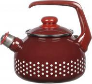 Чайник Горох бордовий 2,5 л 116654 METALAC