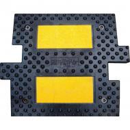 Обмежувач швидкості гумовий 500х500х50 мм (середня частична)